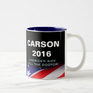 Llamada de Carson 2016 el doctor Mug Taza