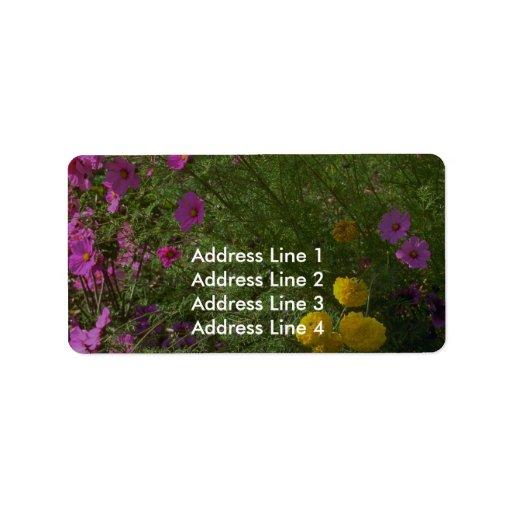Llamada de colores etiquetas de dirección