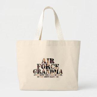 Llamada de contestación de la abuela de la fuerza bolsa tela grande
