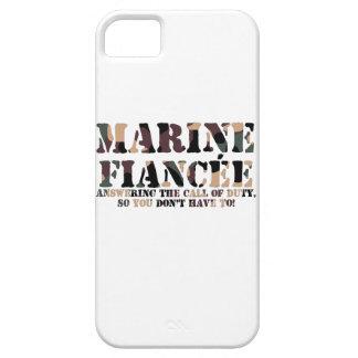 Llamada de contestación del prometido marino iPhone 5 funda