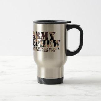Llamada de contestación del sobrino del ejército taza de café