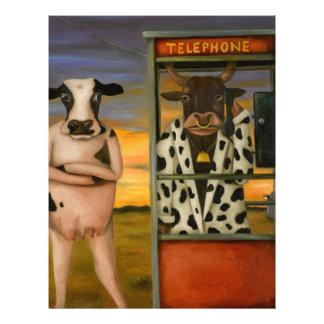 Llamada de ganado membrete a diseño