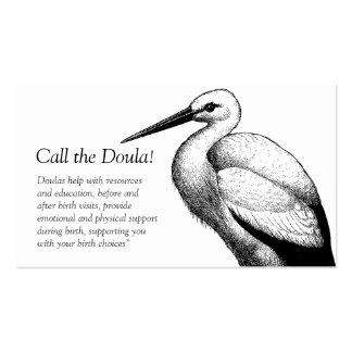 Llamada de la cigüeña las tarjetas de visita de