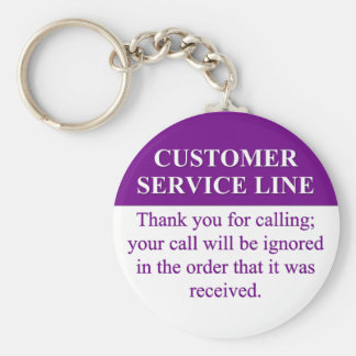 Llamada de la línea de servicio de atención al cli llavero redondo tipo pin