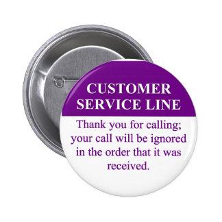 Llamada de la línea de servicio de atención al pin redondo de 2 pulgadas