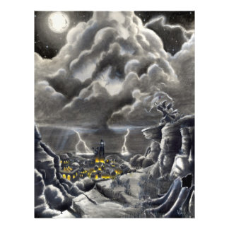 Llamada de la tormenta tarjetas informativas