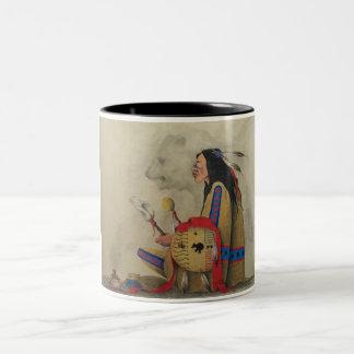 Llamada de las bebidas espirituosas taza de café de dos colores