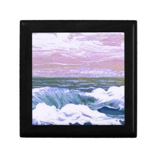 Llamada de las olas oceánicas del mar que navegan  cajas de recuerdo