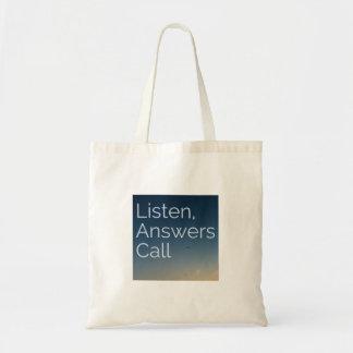 Llamada de las respuestas bolsa tela barata