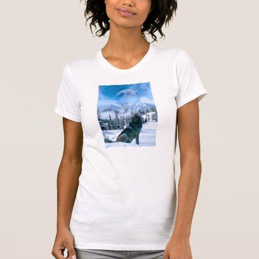 Llamada de lobo camiseta