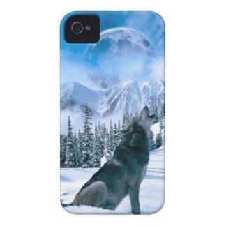 Llamada de lobo iPhone 4 protectores