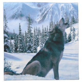 Llamada de lobo servilleta imprimida