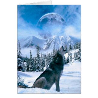 Llamada de lobo tarjetas