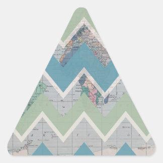Llamada de los galones y las respuestas del mundo pegatina triangular