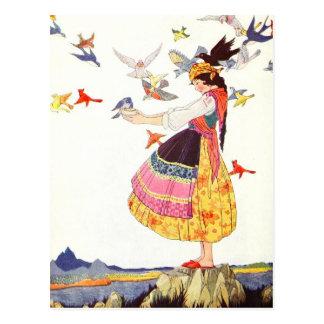 Llamada de los pájaros postal