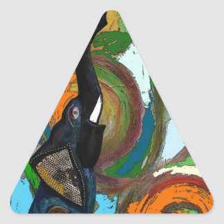 llamada de mañana pegatina triangular