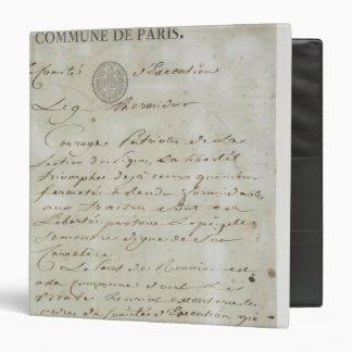 """Llamada de Maximiliano de Robespierre Carpeta 1 1/2"""""""