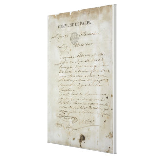 Llamada de Maximiliano de Robespierre Lona Estirada Galerías