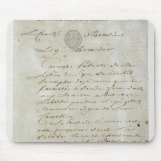 Llamada de Maximiliano de Robespierre Tapete De Ratón