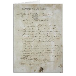 Llamada de Maximiliano de Robespierre Tarjetas