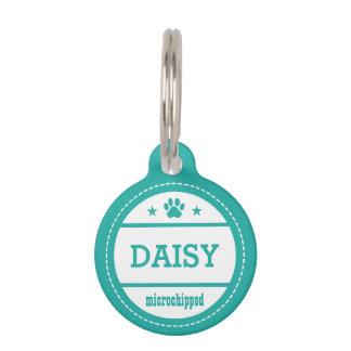 Llamada de Microchipped del nombre del perro del Placas De Mascota