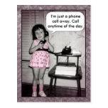 Llamada de teléfono de encargo de la foto del vint tarjeta postal