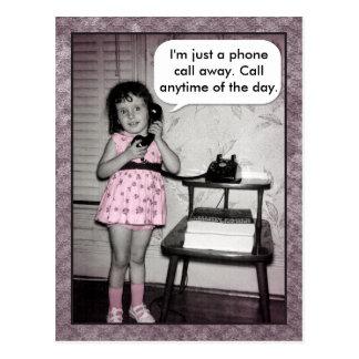 Llamada de teléfono de encargo de la foto del vint postal