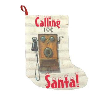 llamada del almacenamiento del navidad de santa calcetín de navidad pequeño