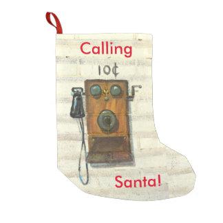llamada del almacenamiento del navidad de santa calcetín navideño pequeño