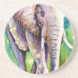 Llamada del elefante salvaje posavasos de arenisca