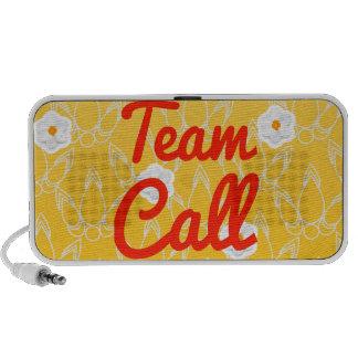 Llamada del equipo altavoz de viaje