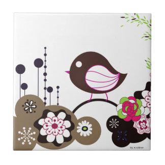 Llamada del pájaro azulejo cuadrado pequeño