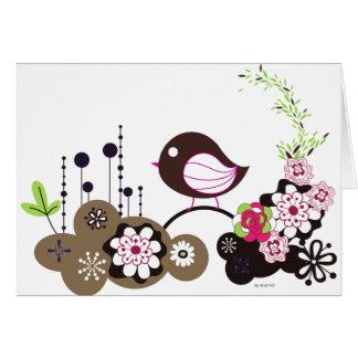 Llamada del pájaro tarjeta de felicitación