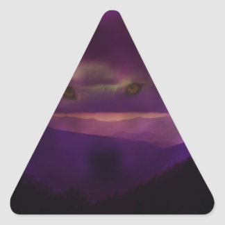 Llamada del salvaje pegatina triangular