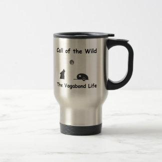 Llamada del salvaje taza de viaje