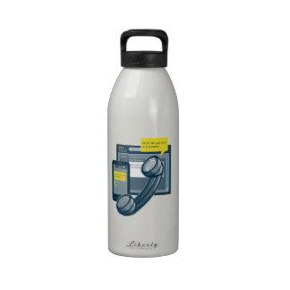 Llamada del Web site de Smartphone del teléfono de Botella De Agua