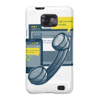 Llamada del Web site de Smartphone del teléfono de Galaxy SII Carcasa