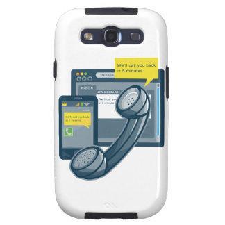 Llamada del Web site de Smartphone del teléfono de Samsung Galaxy S3 Carcasas
