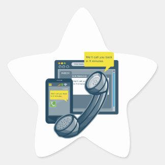 Llamada del Web site de Smartphone del teléfono de Calcomania Forma De Estrella