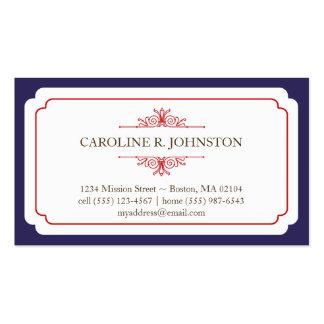 Llamada personal de la tolerancia del marco sólido tarjetas personales