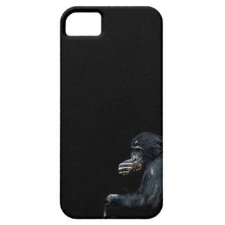 Llamada telefónica de los chimpancés iPhone 5 Case-Mate cárcasas