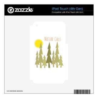 Llamadas de la naturaleza iPod touch 4G calcomanías