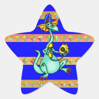 Llamadas de teléfono del dragón calcomanía cuadrada