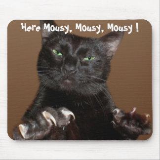 Llamadas del gatito al ratón del ordenador alfombrillas de ratón