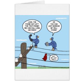 Llamadas del pájaro tarjeta de felicitación