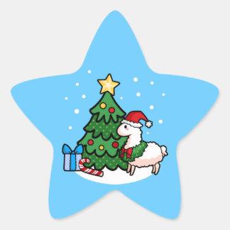 Llamadays feliz pegatina en forma de estrella