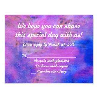 Llamado a la tarjeta de contestación de Mitzvah Invitación 10,8 X 13,9 Cm