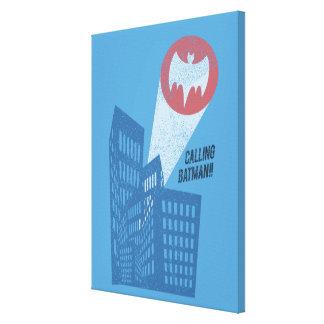 Llamando a Batman gráfico del símbolo del palo Impresion En Lona