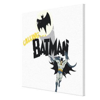 Llamando a Batman gráfico Impresión De Lienzo