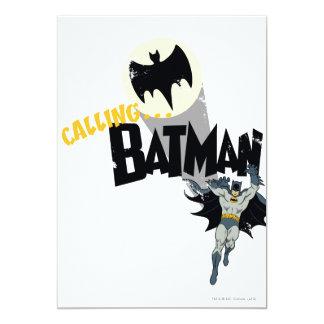 """Llamando a Batman gráfico Invitación 5"""" X 7"""""""